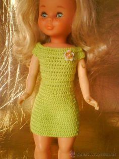 Nancy vestido verde Vestidos Nancy, Nancy Doll, Craft, Dolls, Knitting, Baby, Dresses, Fashion, Green Dress