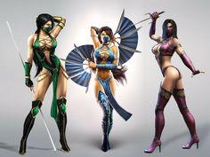 Kitana, Jade, Mileena [Mortal Kombat]