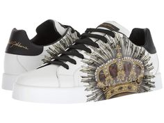 Dolce & Gabbana Laurel and Crown Sneaker Men's Shoes White New Sneakers, Custom Sneakers, Sneakers Fashion, Trendy Shoes, Casual Shoes, Casual Outfits, Gucci Fashion, Mens Fashion, Dolce And Gabbana Man