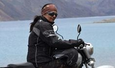 She's a 53 yo single mom in India, rides a Bullet, is a record holder & organizes motorcycle rides