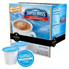 The Keurig Swiss Miss Milk Chocolate Hot Cocoa is a delicately sweet treat made with real milk dried and blended with premium, imported cocoa. Contains milk. Pack includes 3 K-Cups for use with Keurig K-Cup Brewing Systems. Keurig Recipes, Swiss Miss, Single Serve Coffee, Hot Cocoa Mixes, K Cups, Coffee Pods, Me Time, Hot Chocolate, Milk