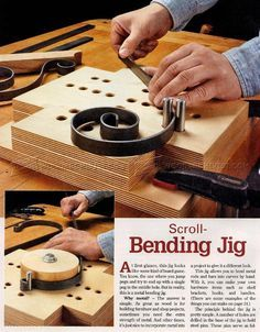Scroll-Bending Jig - Woodworking Tips and Techniques | WoodArchivist.com