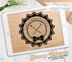 Bow Tie logo with Business Branding Set by StacyBGraphicDesign