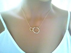 Eternity love Circle Pendant, Charm,Necklace - cute, small, tiny, simple, modern, everyday jewelry - lovely gift. $20.50, via Etsy.