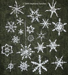 Lovely paper quilling snowflakes by Stephanie Sanchez. Check them out.
