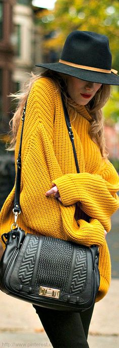 Love sweater, hat and purse.... For those cold fall/winter days full of errands. Maximize comfiness.