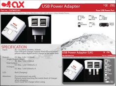 Home Power Charger with 4 USB Ports Ipod, Phone, Galaxy S2, Tech Accessories, Blackberry, Charger, Usb, Telephone, Blackberries
