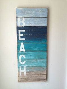 BEACH Coastal Decor by shoponelove on Etsy