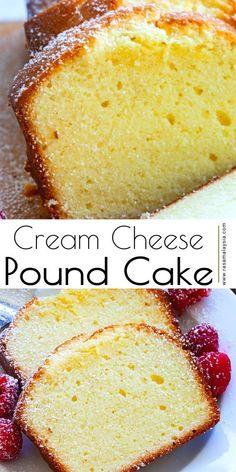 Sweet Desserts, Delicious Desserts, Yummy Food, Baking Recipes, Dessert Recipes, Baking Ideas, Classic Pound Cake Recipe, Pound Cake Recipes, Pound Cakes