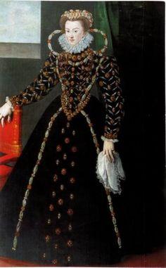modern portrait of Elisabeth of Austria, Queen of France by Georges van der…