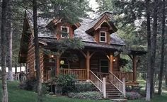 **My FAVORITE small log cabin with plans**