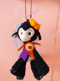 New 2015 Tokyo Disney Halloween Danny the black lamb sheep Plush Chain Japan