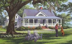 Cottage Country Farmhouse Traditional House Plan 86226 Quite possibly my dream home! Cottage Floor Plans, Country House Plans, Porch House Plans, Country Houses, Farmhouse Plans, Country Farmhouse, Low Country, Farmhouse Design, Country Home Design