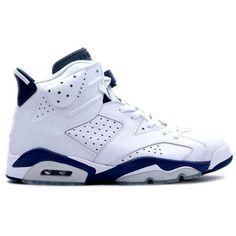 low priced 7a4af a6e7e ... usa new style nike air jordan 6 vi retro white midnight navy mens  shoes. 9a747