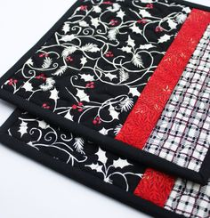 Tis the Season  Handmade Quilted Potholders in by TheMJCollection, $19.50