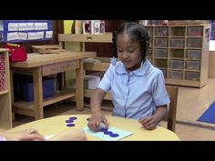 A child produces a small set of counters to match a shown quantity.