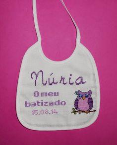 Raquel Ponto Cruz: Babete Batizado da Núria - ENCOMENDA