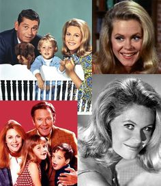 Bewitched - I like this collage as it shows both Darrins (Dick York and Dick Sargent), both kids and reminds us that Bewitched began its run in B & W episodes :)