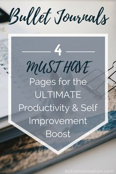 Bullet journal - 4 MUST HAVE pages