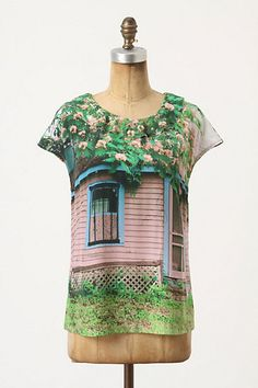 Pink Cottage Blouse #anthropologie