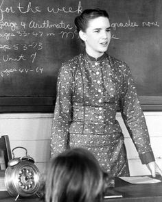 Laura Ingalls [Melissa Gilbert] as a teacher in 'Little House on the Prairie'