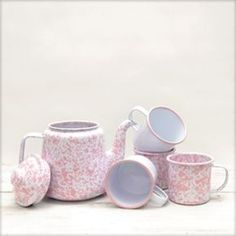 Check out our new pink and white splatterware collection!!