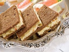 White Cheddar and Olive Finger Sandwiches