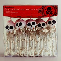 Adorable Skeleton String Lights from World Market, $17 (Found these thanks to The Bloggess. I desperately want to put little top hats on them.)