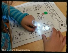 Use finger lights to help stretch out words... These are really cheap on Amazon! Tips for building reading stamina!