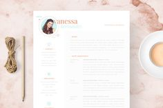 Vanessa - Feminine Resume/CV by BRODUCTIVE co. on @creativework247