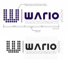 Projekt logo wario [złoty podział, mistrzowska liczba 44] - wario logo design [golden ratio, master number 44] Golden Ratio, Logo, Words, Golden Mean Ratio, Logos, Logo Type, Horses, Environmental Print