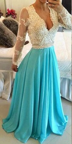 Fashion Prom Dress with Long Sleeves Graduation Party Dresses Formal Dress BPD0059