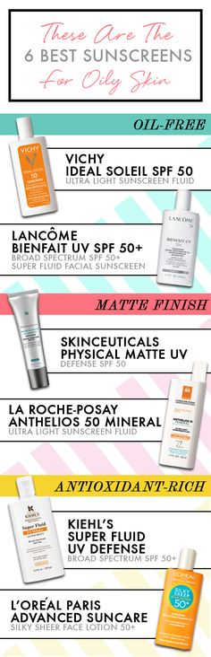 These Are the 6 Best Sunscreens for Oily Skin - we love SkinCeuticals new matte sunscreen!!