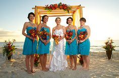 #caribean blue #orange beach wedding