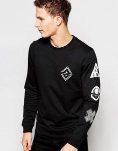 Image 1 ofJack & Jones Sweatshirt with Chest and Sleeve Print