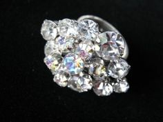 Bling Ring  Vintage Rhinestone Repurposed by JenniferJonesJewelry, $28.00