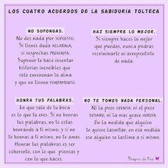 Los cuatro acuerdos de la sabiduría Tolteca #reflexion