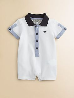 Armani Junior Infants Polo Coverall