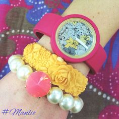 Spring Armparty!  Oclock flower €24 #manlioboutique  Per spedizioni  WhatsApp 329.0010906 #oclock #flower #bracelet #watches #fullspot