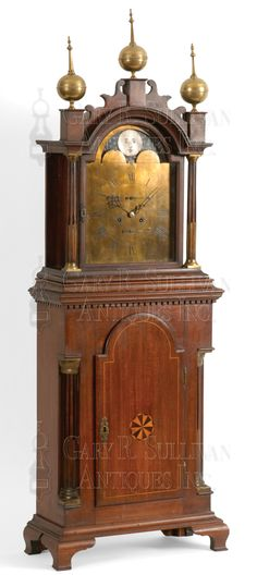 A superb 4 1//4 inch antique hardwood turned finial furniture clock mirror top F3