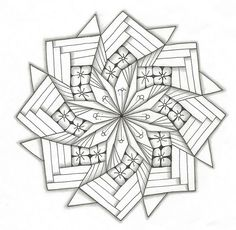 this zentangle would make an amazing quilt Iris Folding Templates, Iris Paper Folding, Iris Folding Pattern, Mandala Coloring Pages, Coloring Book Pages, Coloring Sheets, Doodles Zentangles, Zentangle Patterns, Quilt Patterns