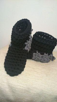 Botines de trapillo Creaciones Crochet Marisa Gerardi