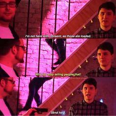 Tomska/DarkSquidge video Last Week I Got A Gun (Dan appears about 0-0:08 and 2:50-330)