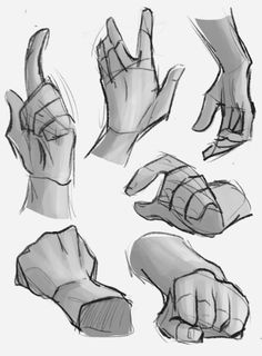 hand fist pose body reference