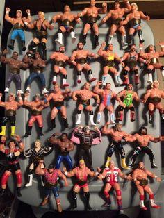 WCW Galoob action figures [1990 - 1991]. World Championship Wrestling, Wrestling Wwe, My Childhood Memories, Childhood Toys, Wwf Toys, Wrestling Costumes, Retro Toys, Vintage Toys, Wwe Action Figures