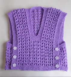 Free Knitting Pattern for Melika Lacy Baby Vest