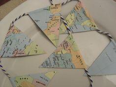 MINI MAP Bunting Paper Garland Eco Friendly by BigGirlSmallWorld