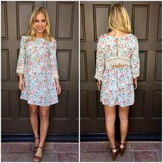 Rose Garden Crochet Shift Dress