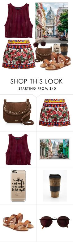 """""""pack and go: Cuba!"""" by nadiahirbah288 ❤ liked on Polyvore featuring Kate Spade, Dolce&Gabbana, Casetify, Free People, RED Valentino, Ray-Ban, contest, vacation, Packandgo and contestenter"""