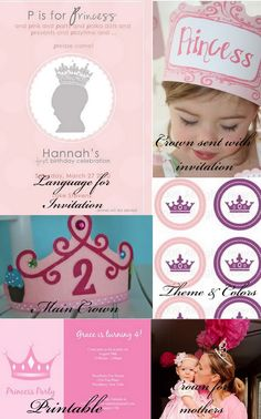DIY -Princess Party With Full Free Printables !